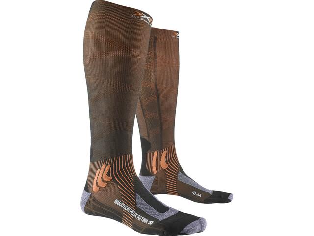 X-Socks Marathon Helix Retina Strømper, stone grey melange/x-orange